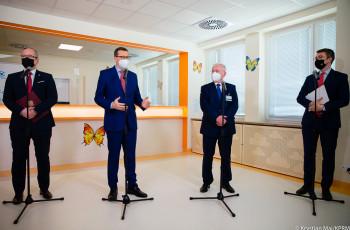 Wizyta Premiera i Ministra Zdrowia w Centrum Chorób Rzadkich im. Fundacji Polsat