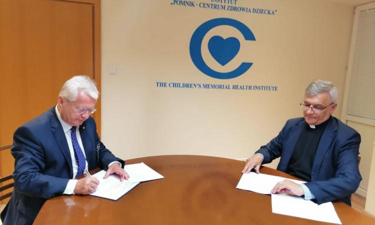 """Podpisanie umowy między Instytutem """"Pomnik-Centrum Zdrowia Dziecka"""",  a Uniwersytetem Kardynała Stefana Wyszyńskiego"""