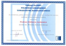 Dyplom dla Pani Profesor Elżbiety Jurkiewicz